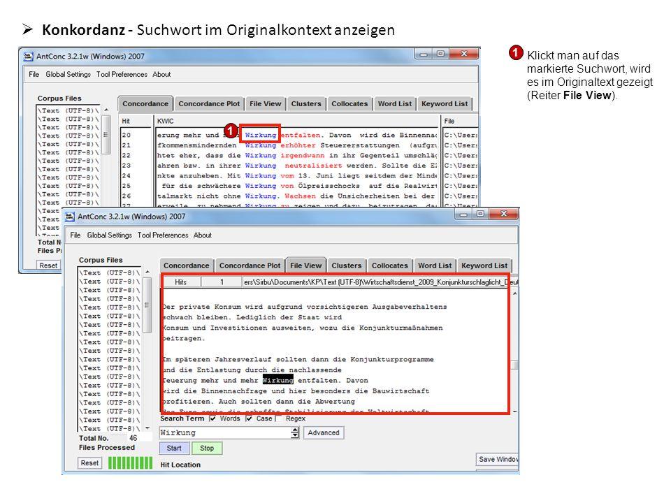 Konkordanz - Suchwort im Originalkontext anzeigen