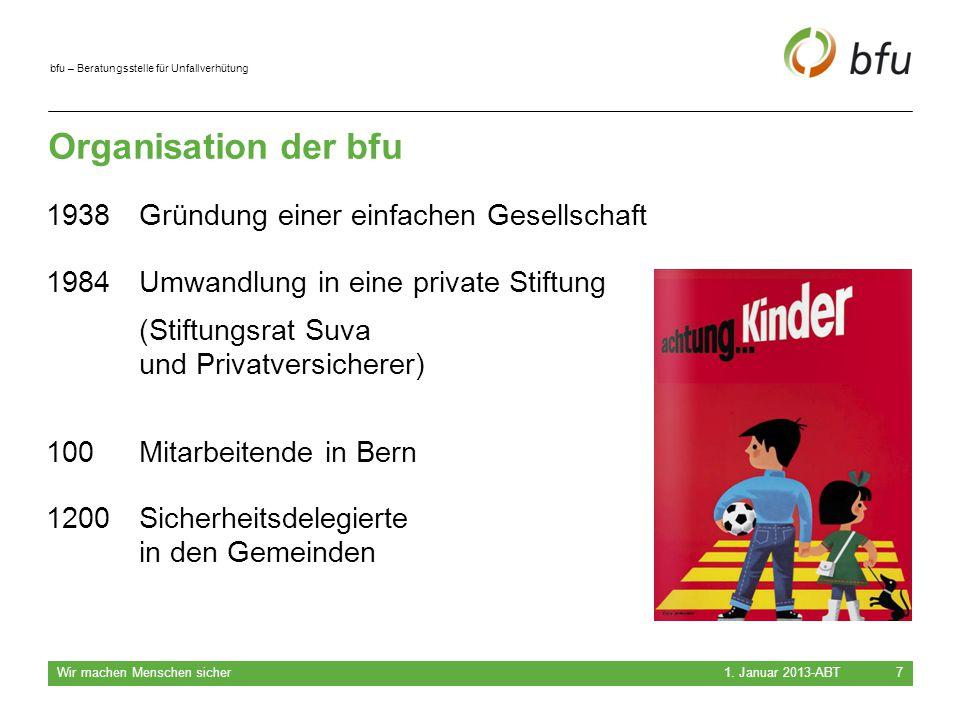 Organisation der bfu 1938 Gründung einer einfachen Gesellschaft