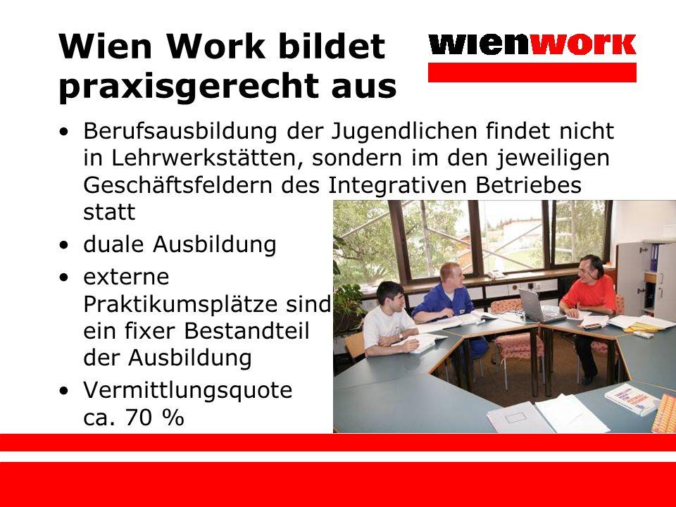 Wien Work bildet praxisgerecht aus