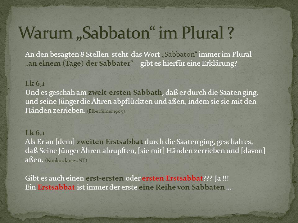 """Warum """"Sabbaton im Plural"""