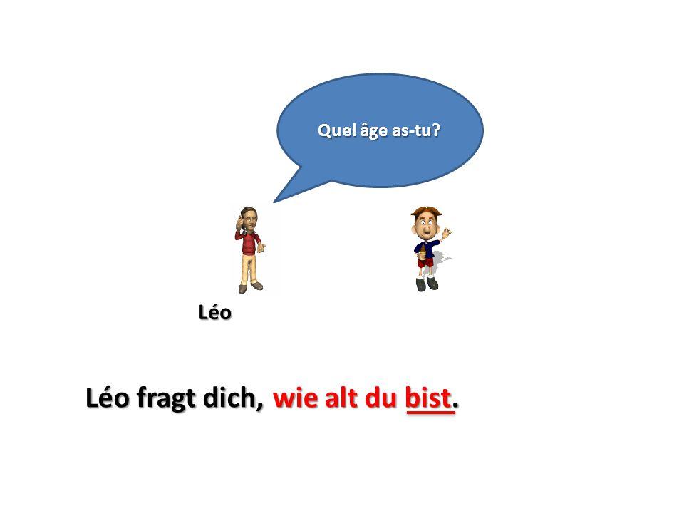 Quel âge as-tu Léo Léo fragt dich, wie alt du bist.