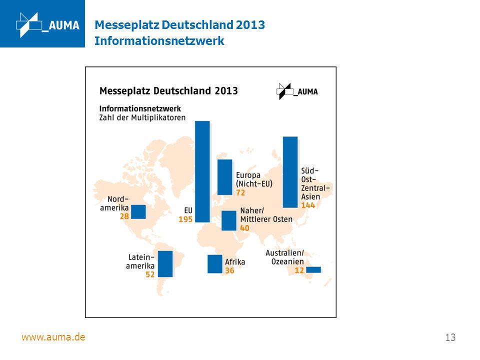 Messeplatz Deutschland 2013 Informationsnetzwerk
