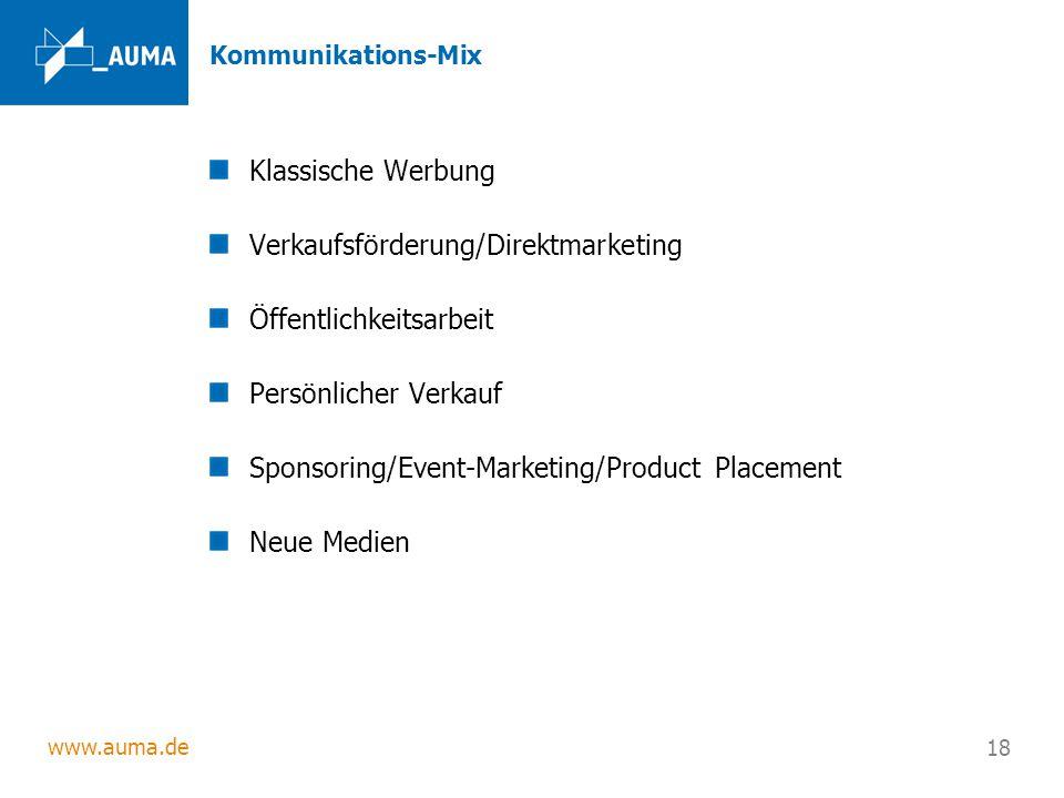 Verkaufsförderung/Direktmarketing Öffentlichkeitsarbeit