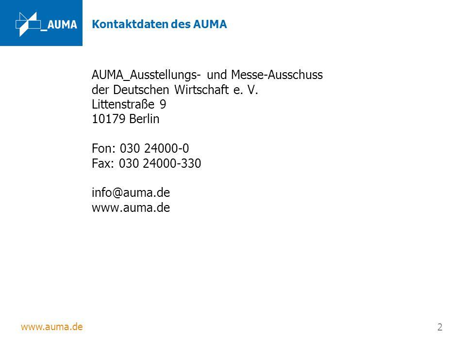 Kontaktdaten des AUMA