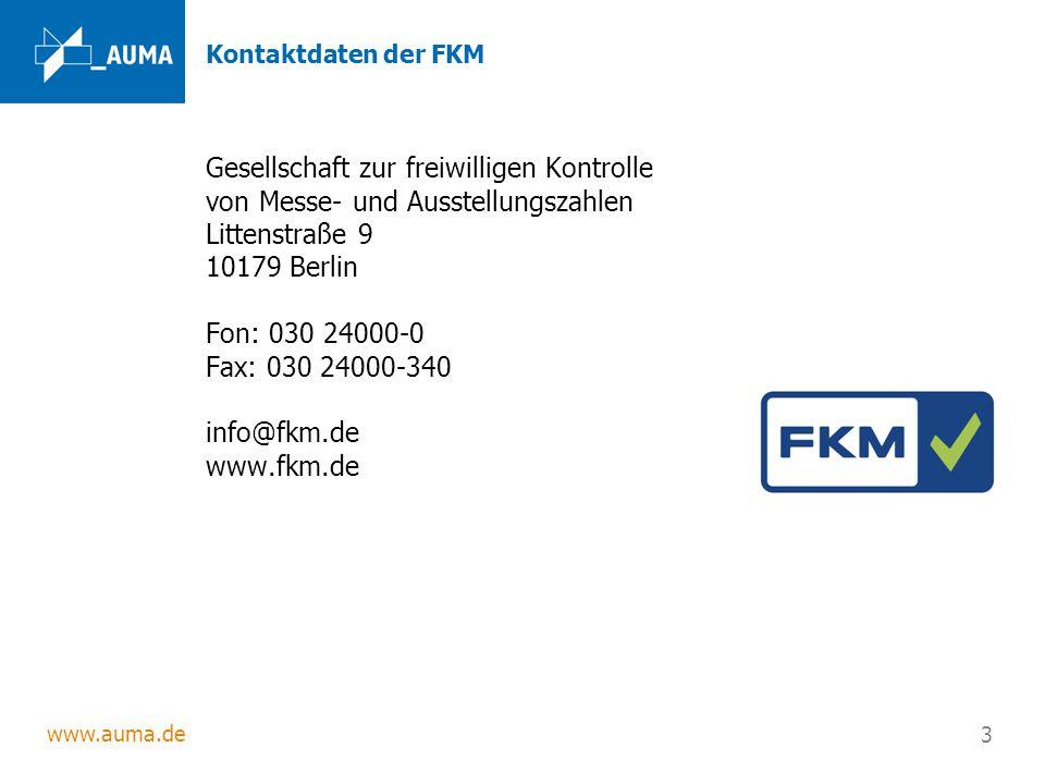 Kontaktdaten der FKM