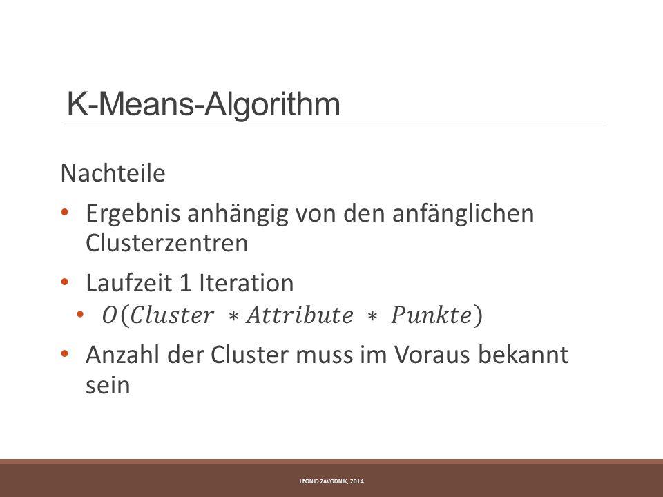 K-Means-Algorithm Nachteile