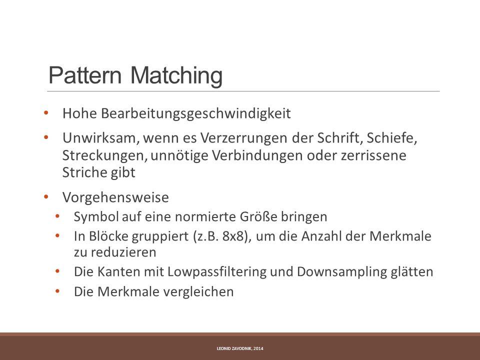 Pattern Matching Hohe Bearbeitungsgeschwindigkeit