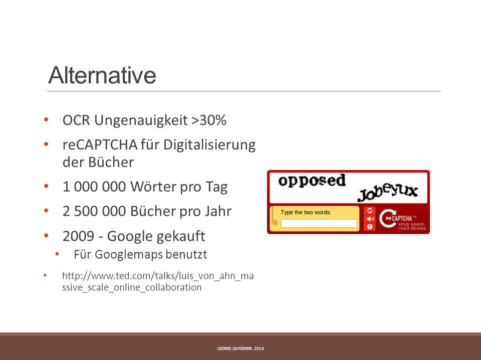 Alternative OCR Ungenauigkeit >30%