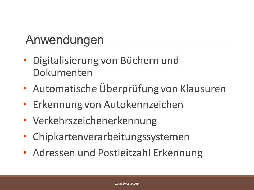 Anwendungen Digitalisierung von Büchern und Dokumenten