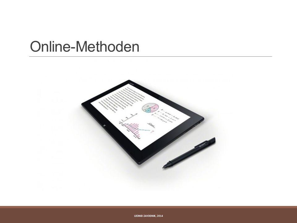 Online-Methoden Leonid Zavodnik, 2014