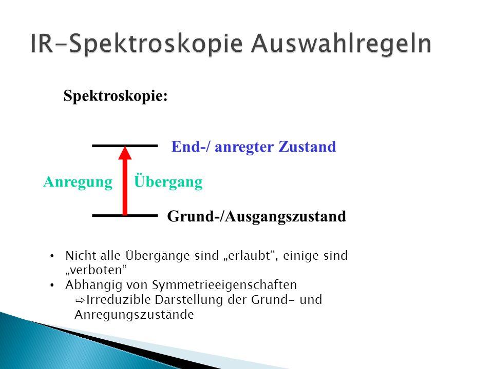 IR-Spektroskopie Auswahlregeln