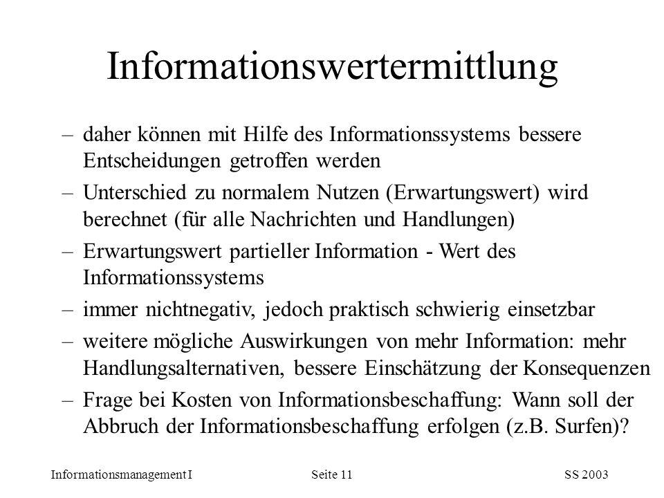 Informationswertermittlung