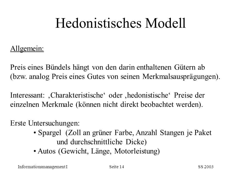 Hedonistisches Modell