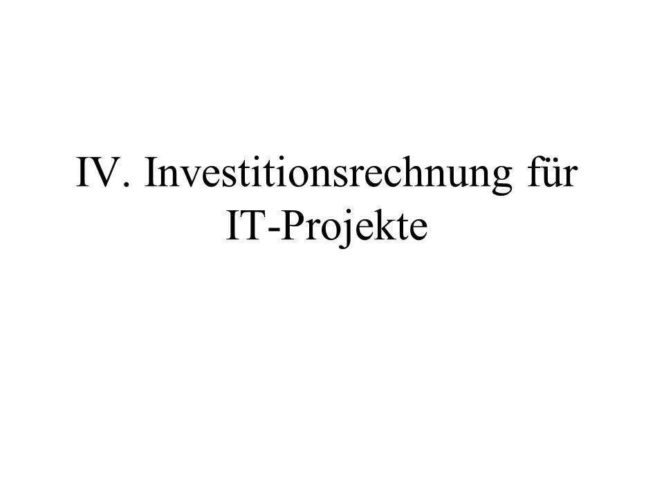 IV. Investitionsrechnung für IT-Projekte