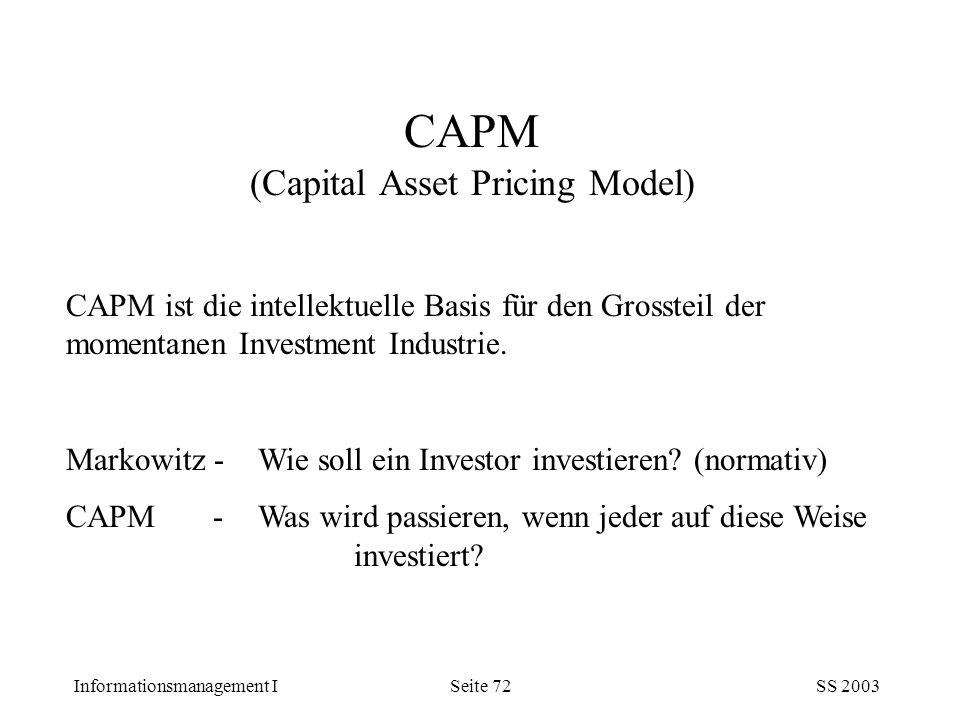 CAPM (Capital Asset Pricing Model)