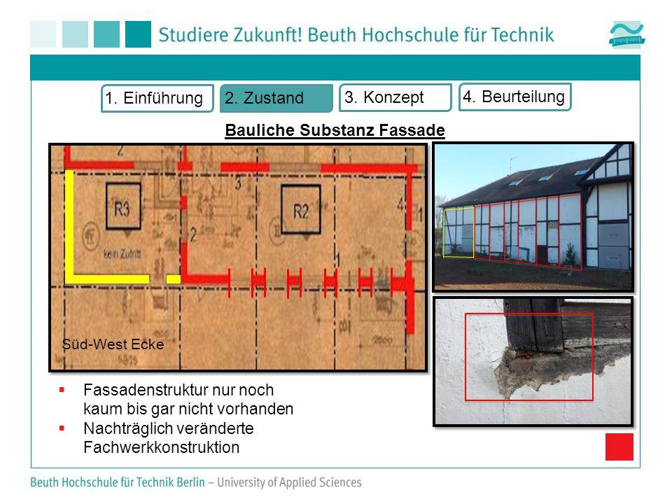 Bauliche Substanz Fassade