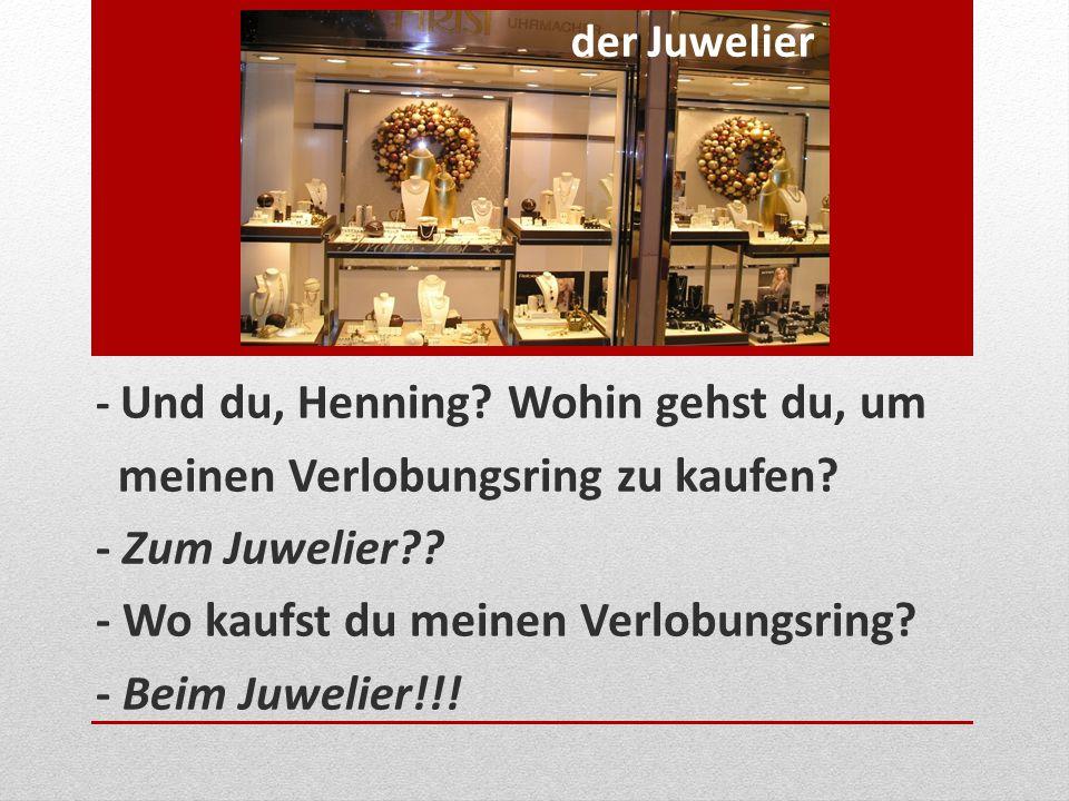 meinen Verlobungsring zu kaufen - Zum Juwelier