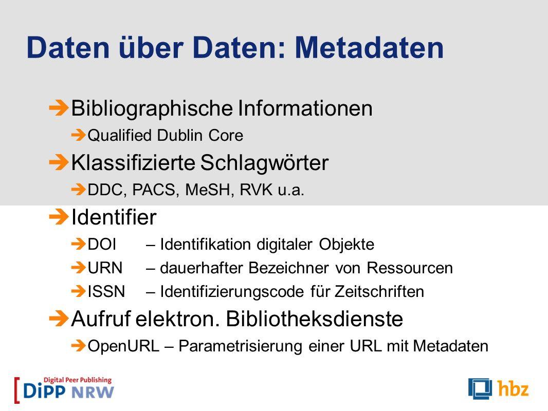 Daten über Daten: Metadaten