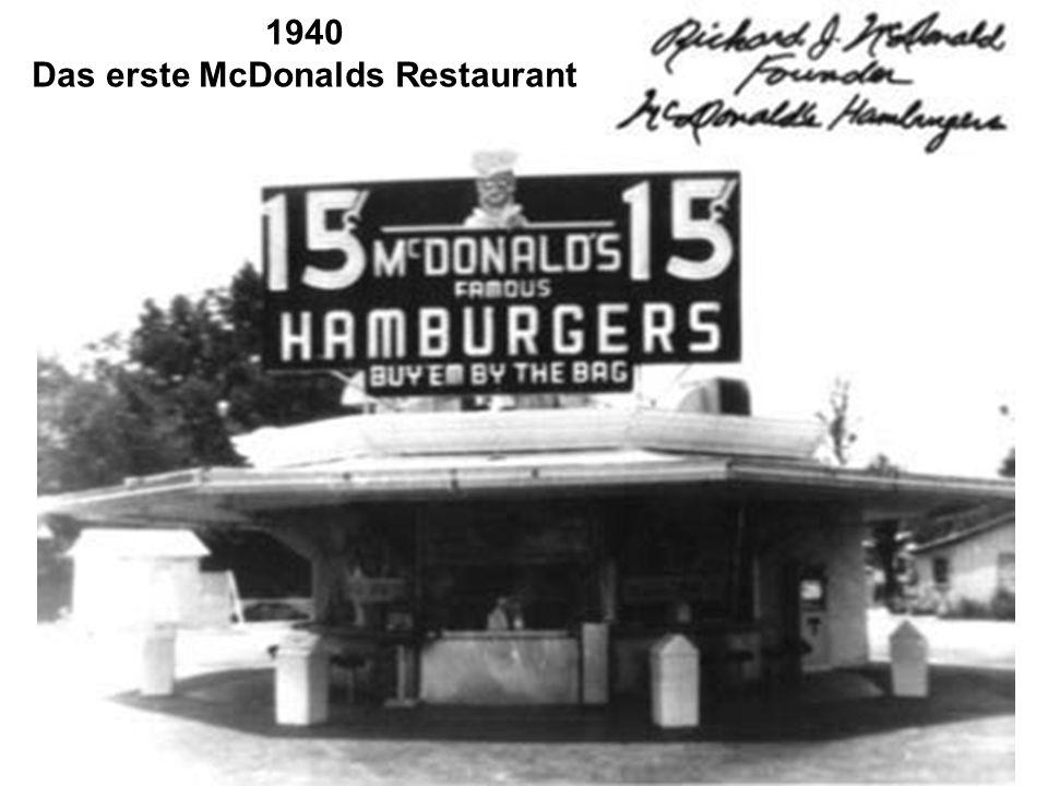 Das erste McDonalds Restaurant