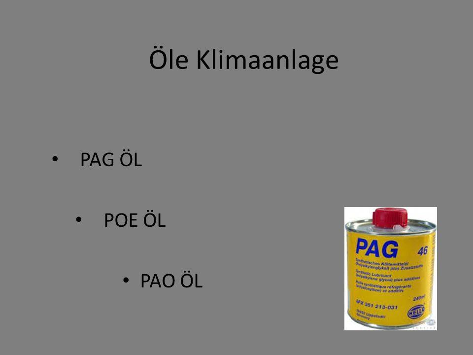 Öle Klimaanlage PAG ÖL POE ÖL PAO ÖL