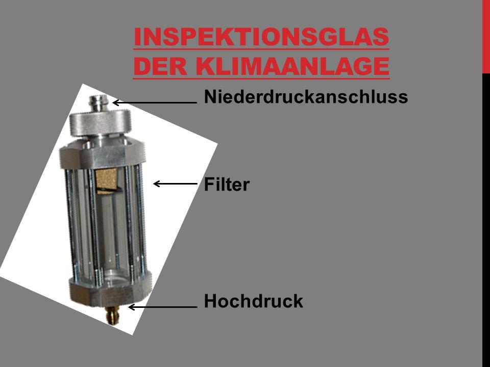 Inspektionsglas der Klimaanlage