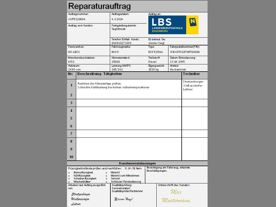x Strutzenberger Walkersdorfer Leitner Max Mustermann Günter Siegl