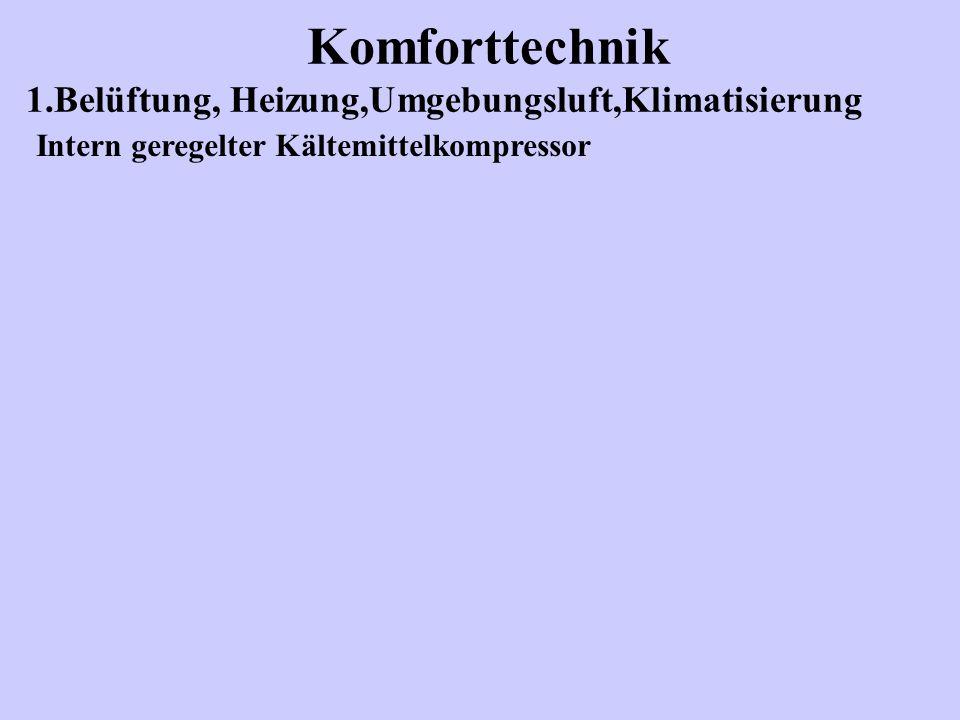 Komforttechnik 1.Belüftung, Heizung,Umgebungsluft,Klimatisierung