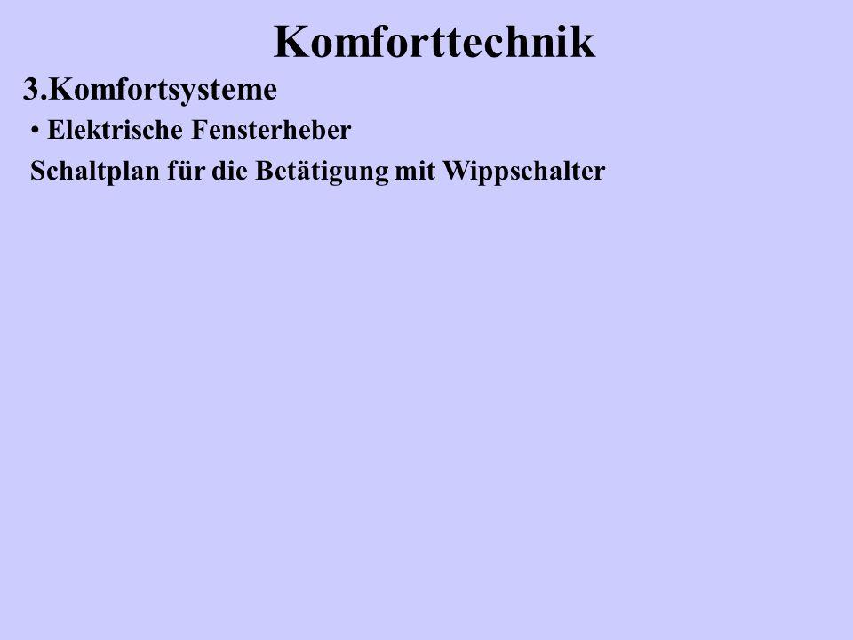 Komforttechnik 3.Komfortsysteme Elektrische Fensterheber