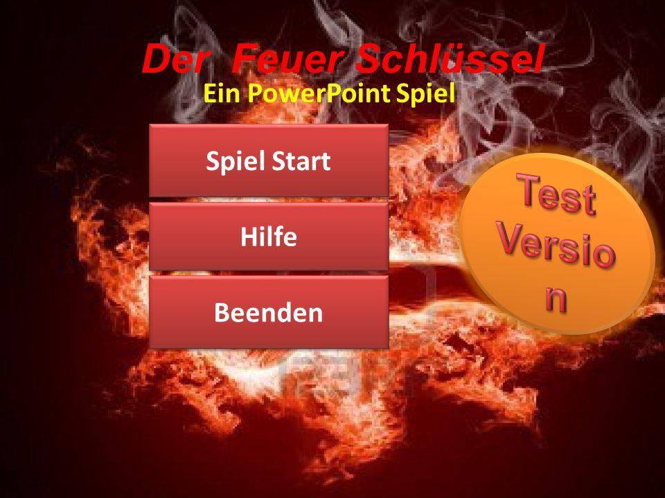 Test Version Der Feuer Schlüssel Ein PowerPoint Spiel Spiel Start