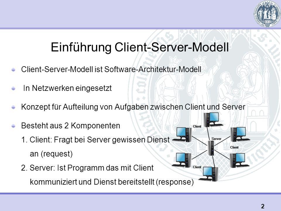 Einführung Client-Server-Modell