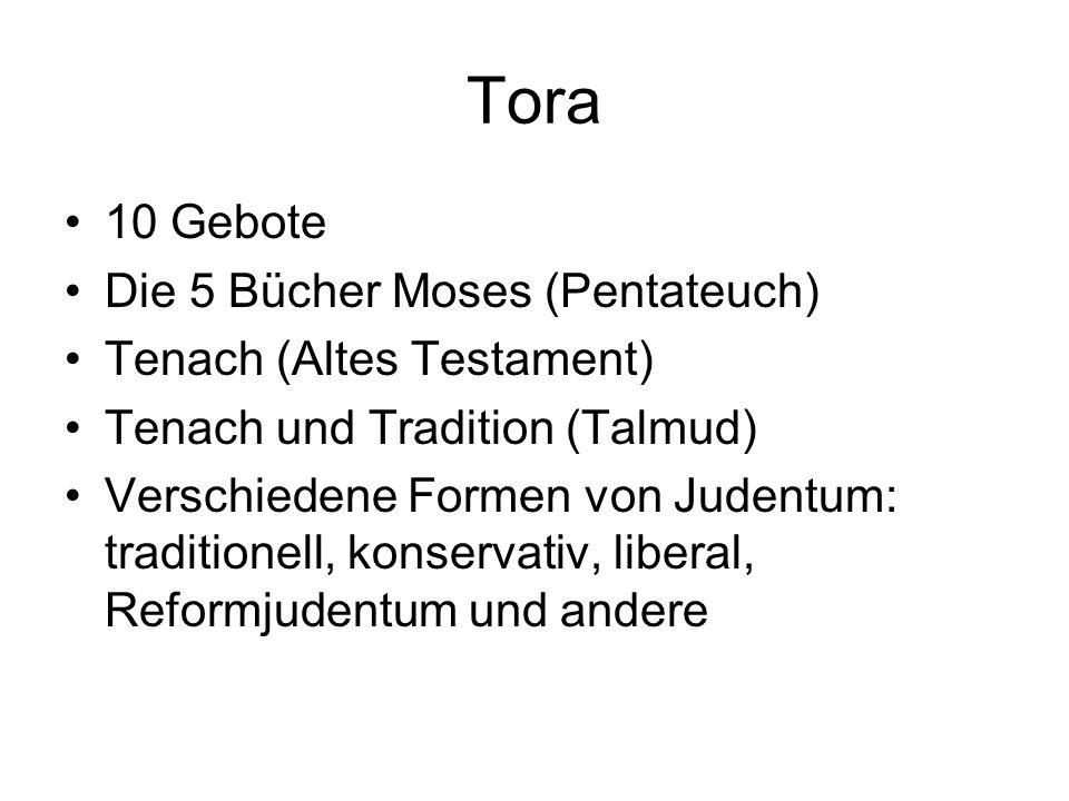 Tora 10 Gebote Die 5 Bücher Moses (Pentateuch)