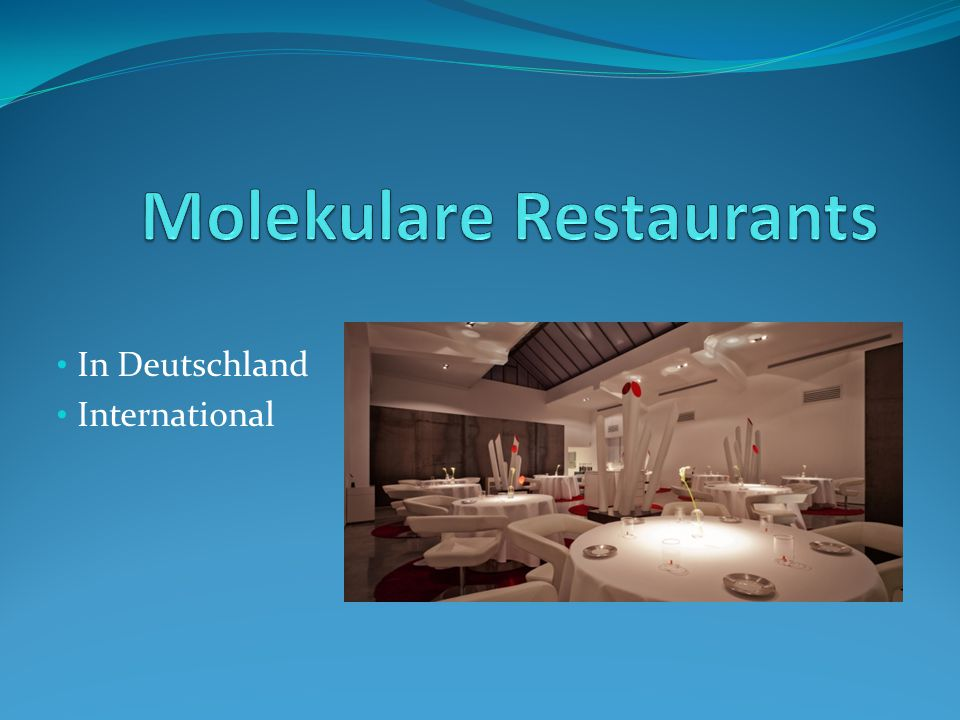 Molekulare Restaurants