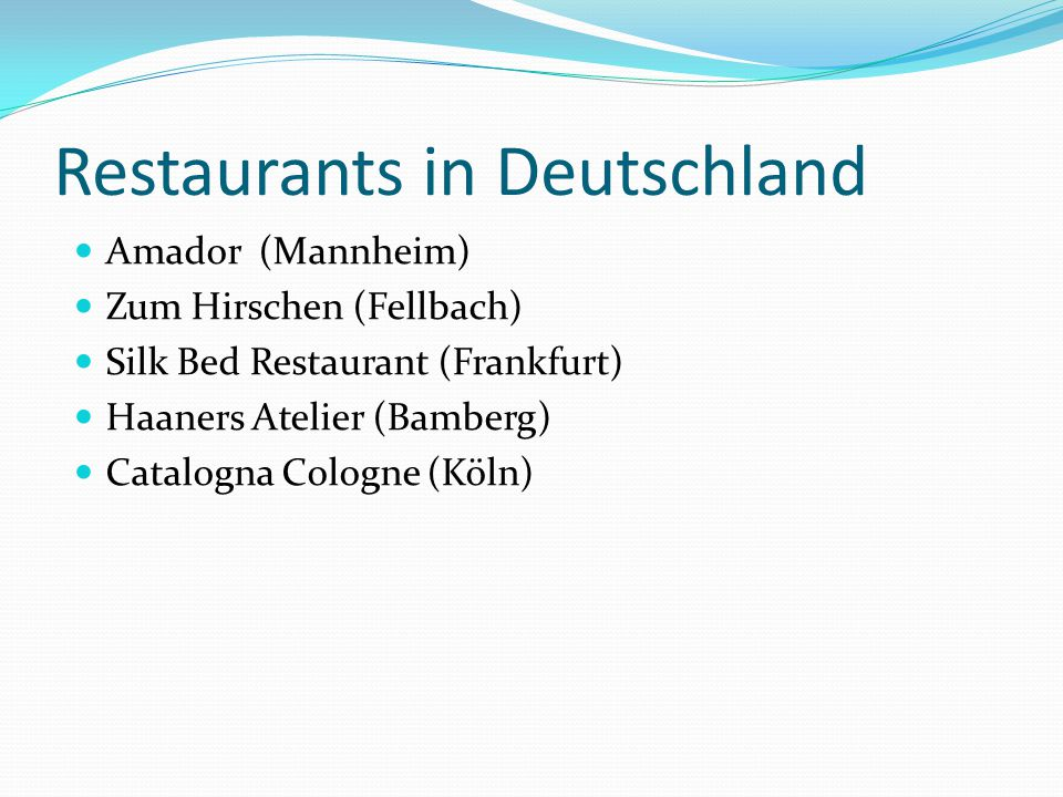 Restaurants in Deutschland