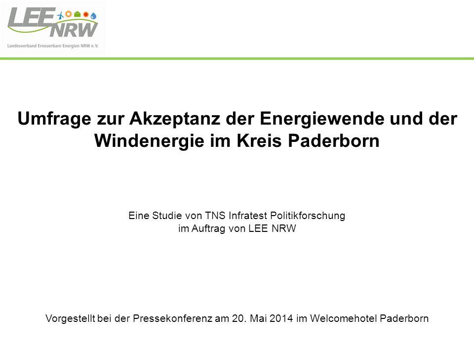 Eine Studie von TNS Infratest Politikforschung im Auftrag von LEE NRW