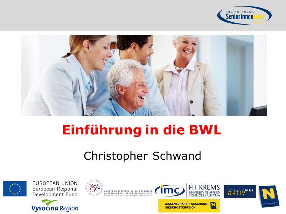 Einführung in die BWL Christopher Schwand