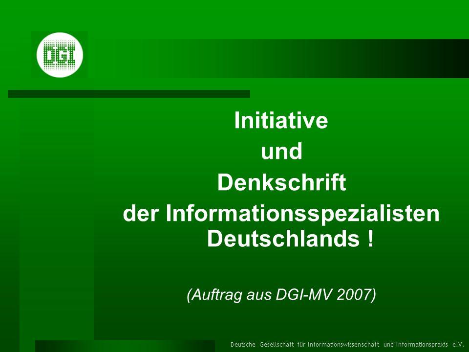 der Informationsspezialisten Deutschlands !