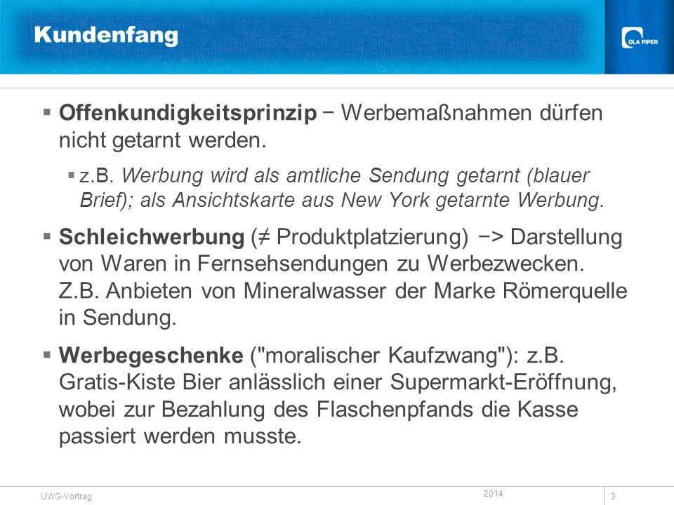 Offenkundigkeitsprinzip − Werbemaßnahmen dürfen nicht getarnt werden.