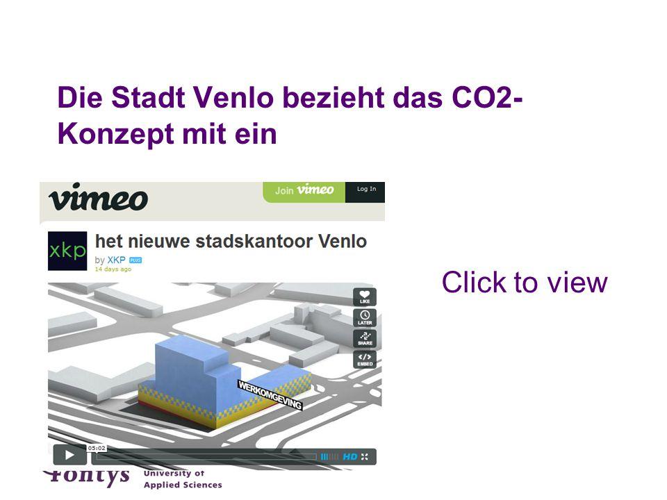 Die Stadt Venlo bezieht das CO2-Konzept mit ein