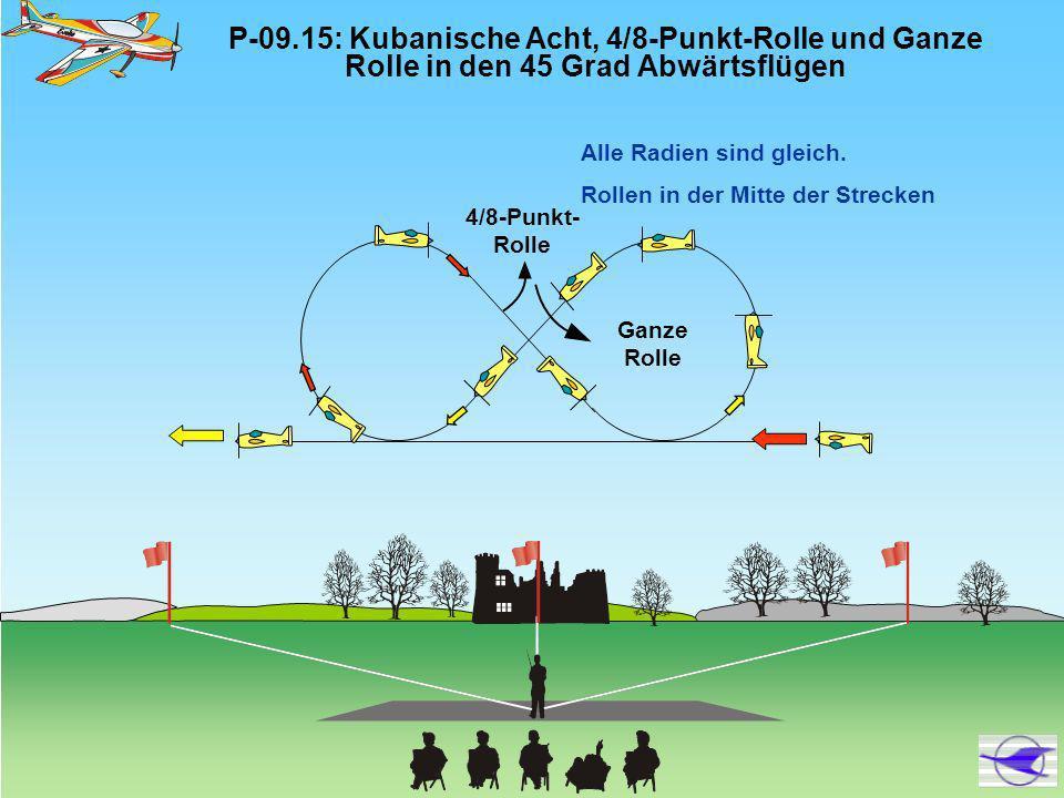 P-09. 15: Kubanische Acht, 4/8-Punkt-Rolle und Ganze