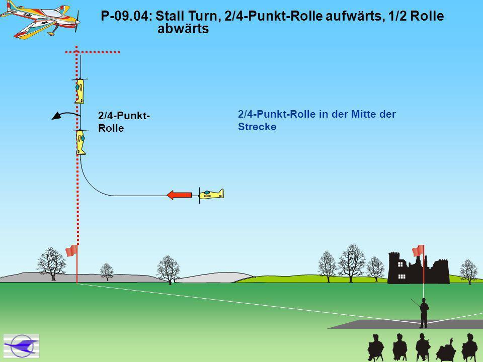 P-09.04: Stall Turn, 2/4-Punkt-Rolle aufwärts, 1/2 Rolle abwärts