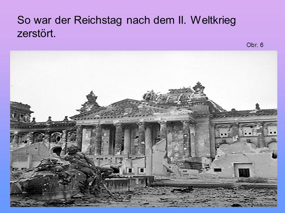 So war der Reichstag nach dem II. Weltkrieg zerstört.