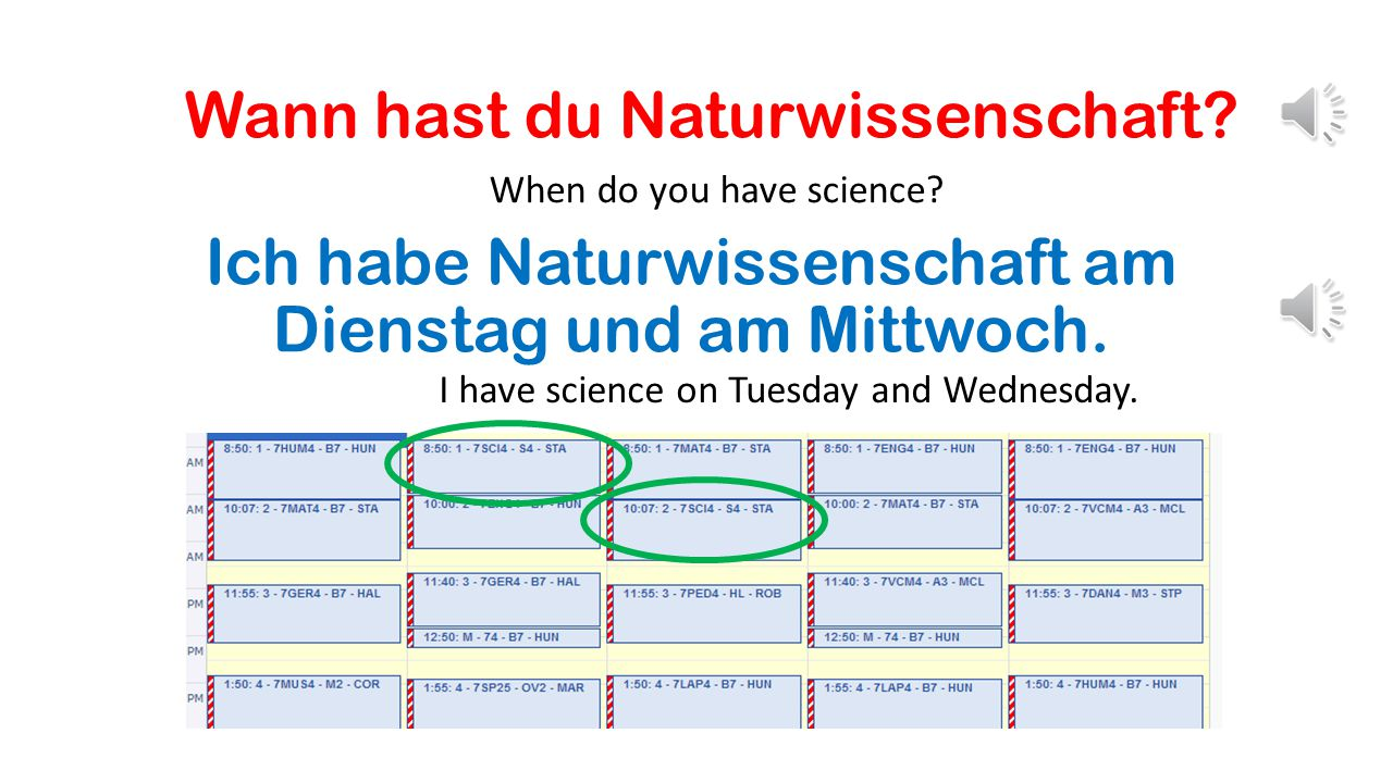 Wann hast du Naturwissenschaft