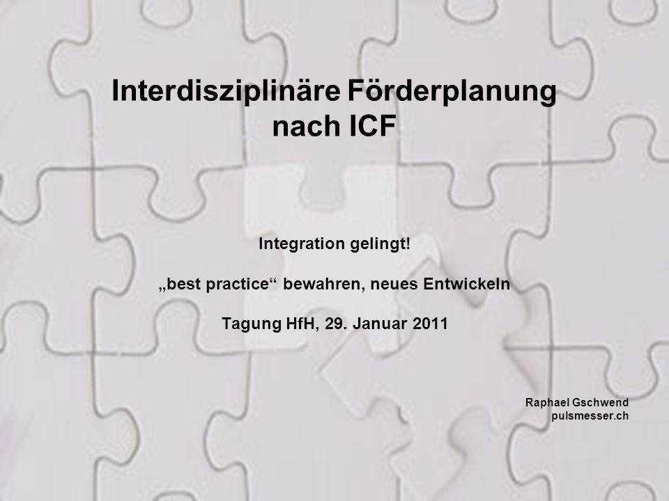 Interdisziplinäre Förderplanung nach ICF