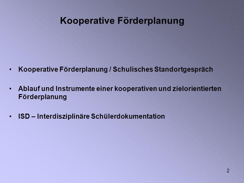 Kooperative Förderplanung