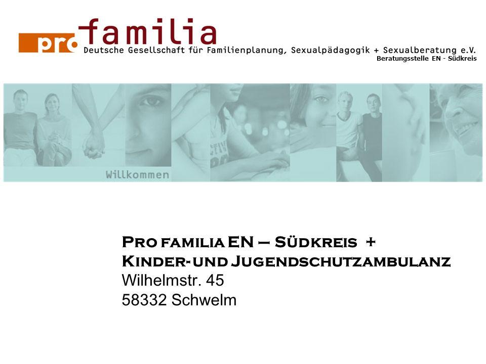 Pro familia EN – Südkreis + Kinder- und Jugendschutzambulanz