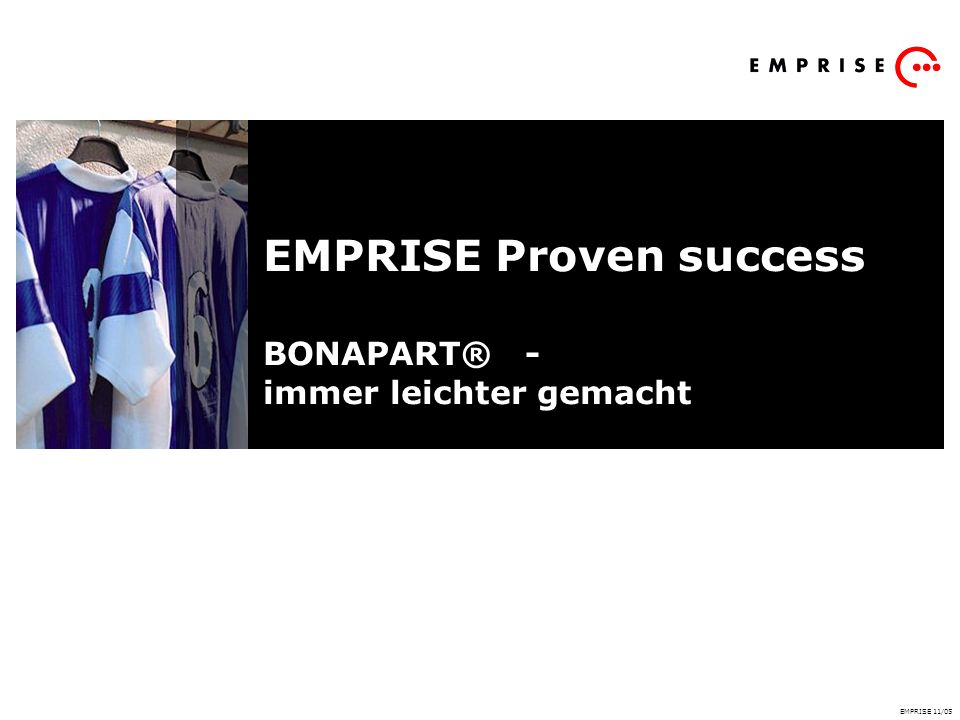 EMPRISE Proven success BONAPART® - immer leichter gemacht