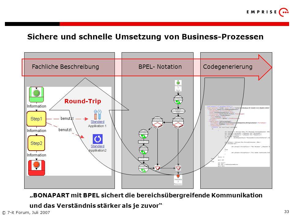 Sichere und schnelle Umsetzung von Business-Prozessen