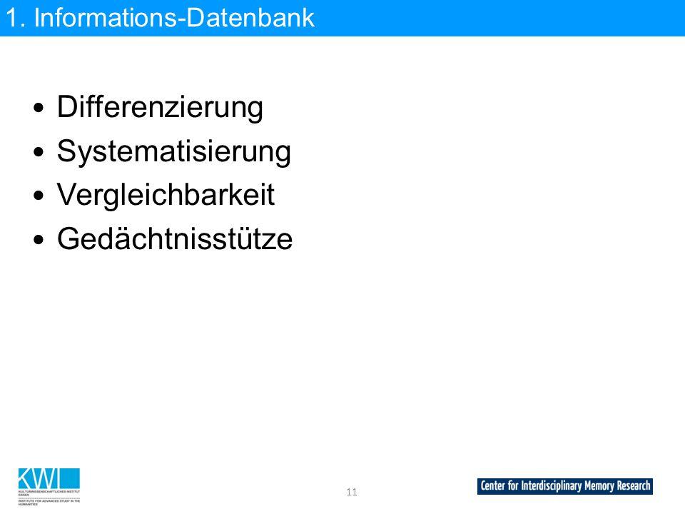1. Informations-Datenbank