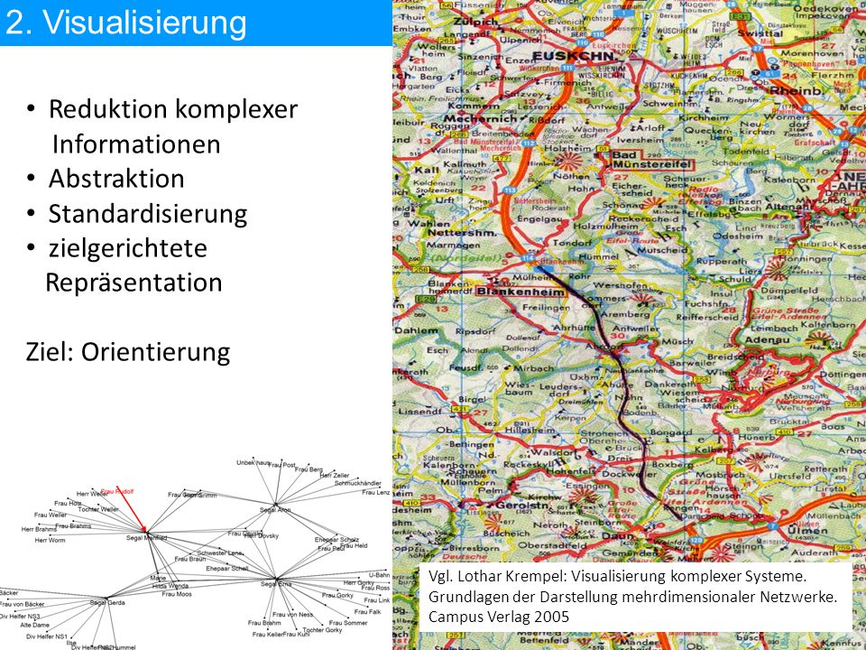 2. Visualisierung Reduktion komplexer Informationen Abstraktion