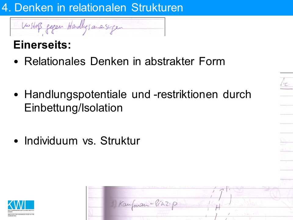 4. Denken in relationalen Strukturen